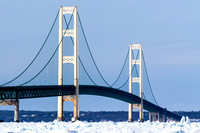 Winter at the Mackinac Bridge