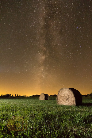 Milky Way and Bales of Hay