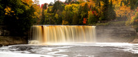 Lower deck view of Tahquamenon Falls during the fall