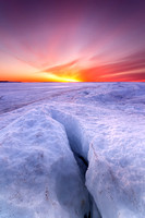 Straits of Mackinac Sunrise, winter