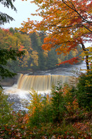 Scenic view Tahquamenon Falls during the fall