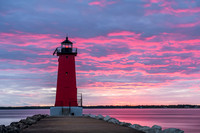 Manistique Lighthouse Sunset